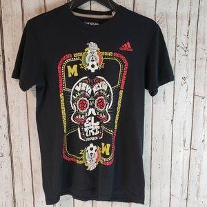 Adidas Viva Mexico soccer black tshirt